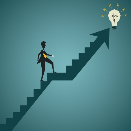 businessmen go for catch new idea concept stock vector