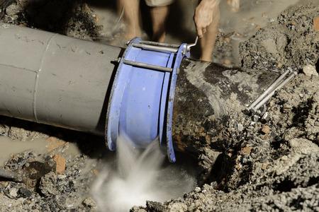cast iron water pipe fix, 400 mm diameter
