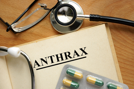 Word Anthrax. Medical concept.