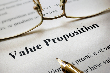 Page of paper with words Value Proposition