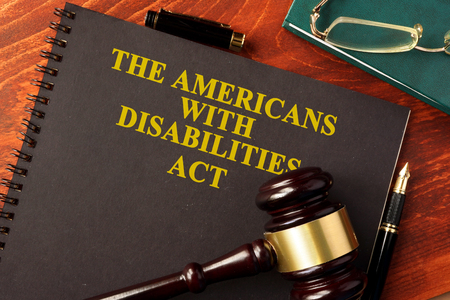 Photo pour Book with title The Americans with Disabilities Act (ADA). - image libre de droit