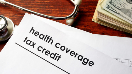 Document with title health coverage tax credit.