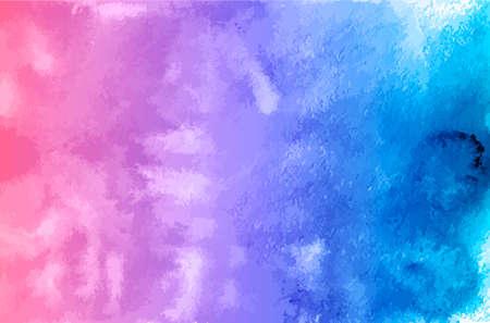 Illustration pour Watercolor texture vector background. Purple blue gradient aquarelle painting. Colorful watercolor stains. Scrapbooking paper. Easy to edit template for your artworks. - image libre de droit