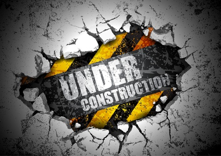 Photo for under construction  - Royalty Free Image