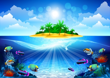 Illustration pour tropical ocean - image libre de droit