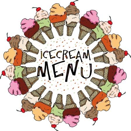 Ice Cream Sketch. vector illustration