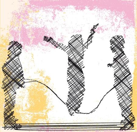 skipping rope  Vector illustration
