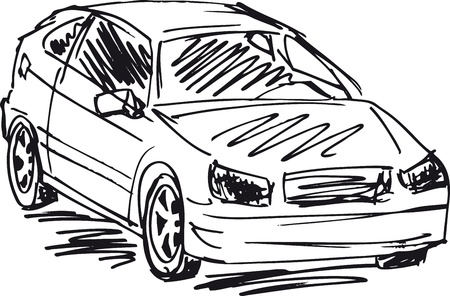 sketch of 3 cars  Vector illustration