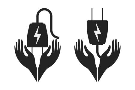 Energy saving icon in vector form with a white background