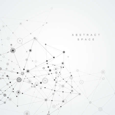 Illustration pour Abstract polygonal background. Geometrical design with connecting dots and lines - image libre de droit