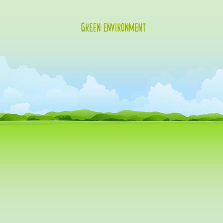 Illustration pour Green environment background - image libre de droit