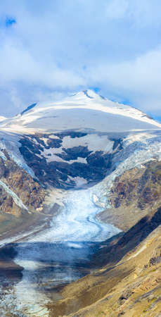 Ice masses melting prozess of the Pasterze Glacier, under the Johannisberg Mountain, at the Grossglockner Group, in Eastern Tyrol, Austria