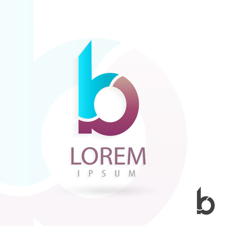 Creative logo design, letter b. Colorful vector icon. Trendy business elements.