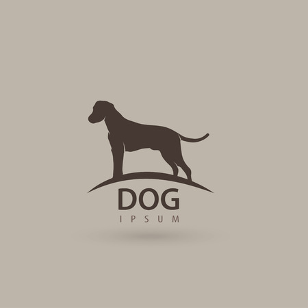 Stylized dog design. Artistic animal silhouette. Vector illustration.