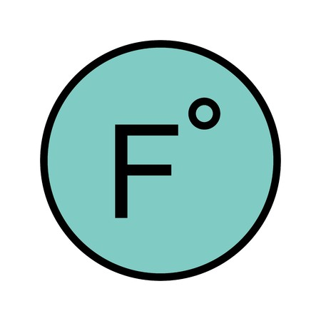 Fahrenheit Vector Icon For Personal And Commercial Use