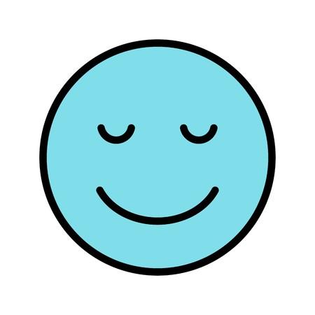 Calm Emoji Vector Icon Sign Icon Vector Illustration For