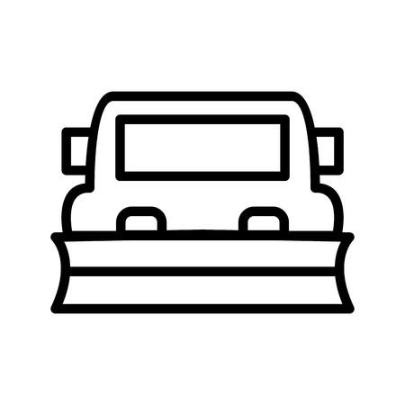 Illustration pour Vector Snowplow Icon - image libre de droit