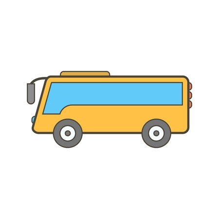 Illustration for Vector Bus Icon - Royalty Free Image