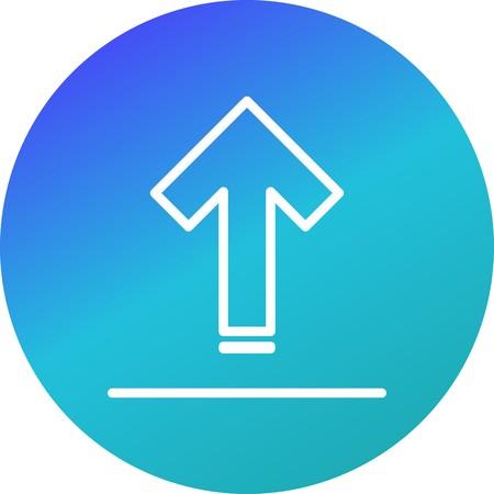 Illustration pour Vector Upload Icon - image libre de droit