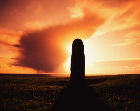 Lia Fail Standing Stone, Hill of Tara, County Meath, Ireland