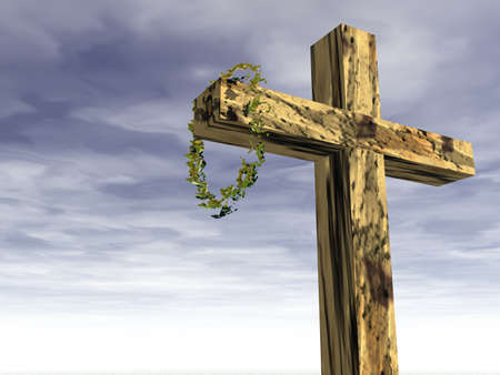 Religious symbol; The cross and crown of thorns
