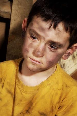 Impoverished boy