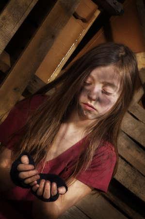 Impoverished girl