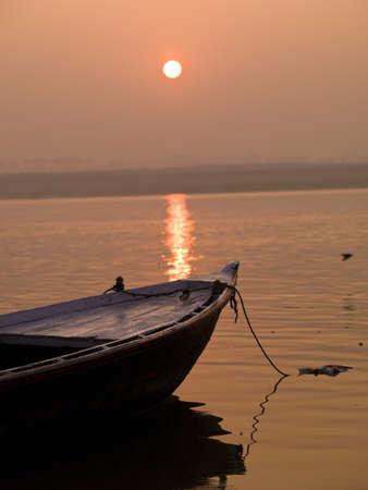 Boat in the water, Varanasi, India