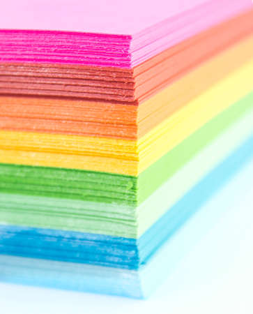 Colourful Paper isolated on white.