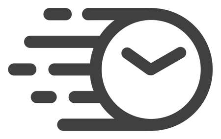 Illustration pour Clock icon with fast speed effect. Vector illustration designed for modern abstract with symbols of speed, rush, progress, energy. Fast clock movement symbol on a white background. - image libre de droit