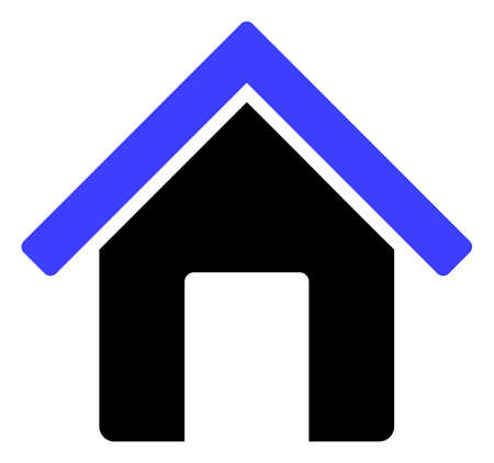 Illustration for Home icon on a white background. Isolated home symbol with flat style. - Royalty Free Image