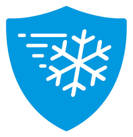 Frost protection icon on a white background. Isolated frost protection symbol with flat style.