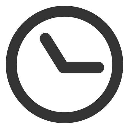Ilustración de Clock icon on a white background. Isolated clock symbol with flat style. - Imagen libre de derechos