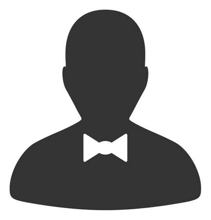 Illustration for Gentleman icon on a white background. Isolated gentleman symbol with flat style. - Royalty Free Image