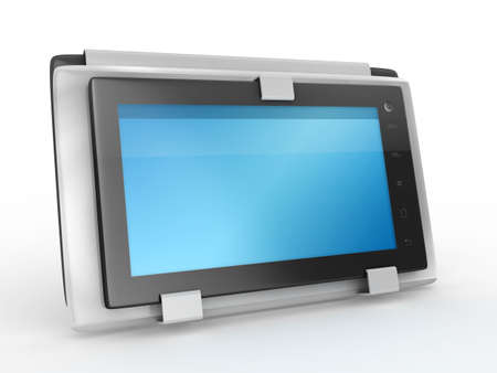 tablet pc with case - isolated 3d rendered