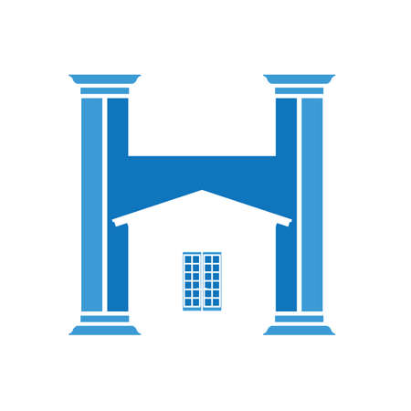 house and columns icon