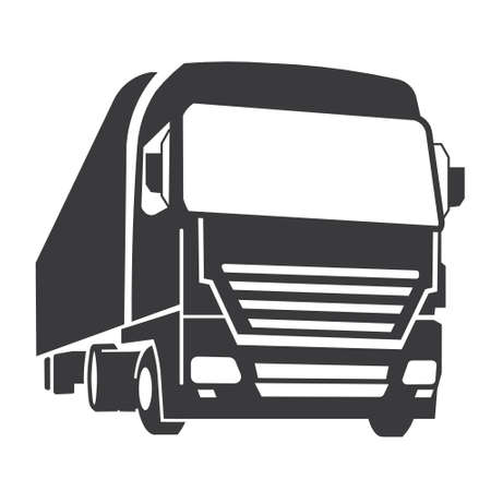 Illustration for Truck icon - Royalty Free Image