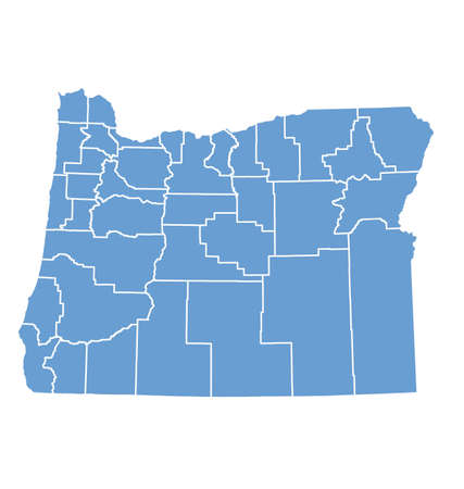Oregon State Map by counties