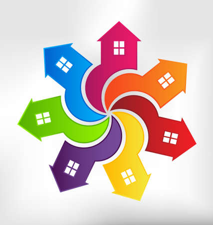 Houses Vortex design element