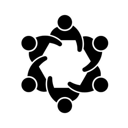 Concept of members of a society or committee image