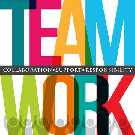 Illustration for Teamwork typography - Royalty Free Image