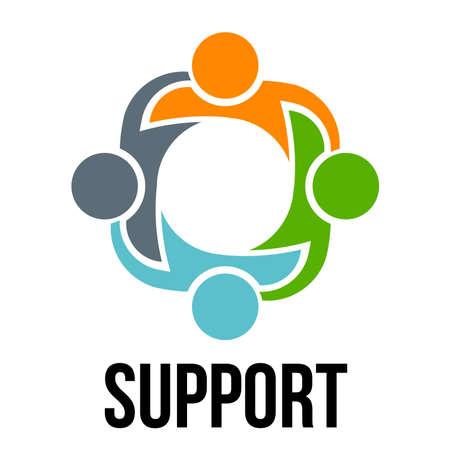 Foto de Support.Group of four people - Imagen libre de derechos