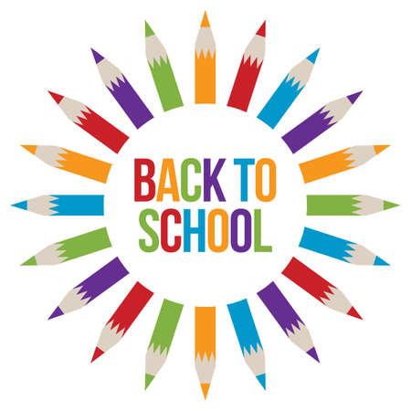 Illustration pour Back to School welcome - image libre de droit