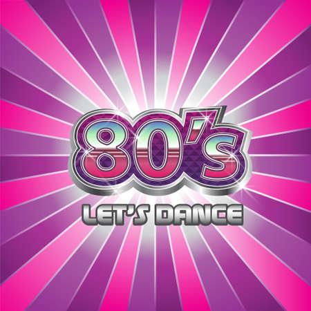Illustration pour 80s Dance Party illustration - image libre de droit
