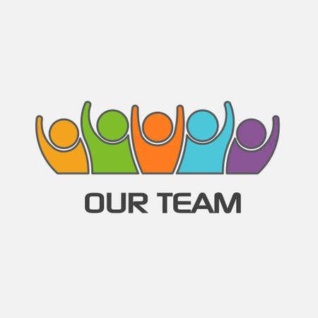 Vektor für Our team group of people. Vector design - Lizenzfreies Bild