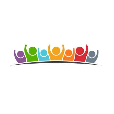 Illustration pour People Group Logo - image libre de droit