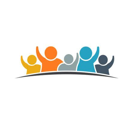 Illustration pour Happy family logo. VEctor graphic design - image libre de droit