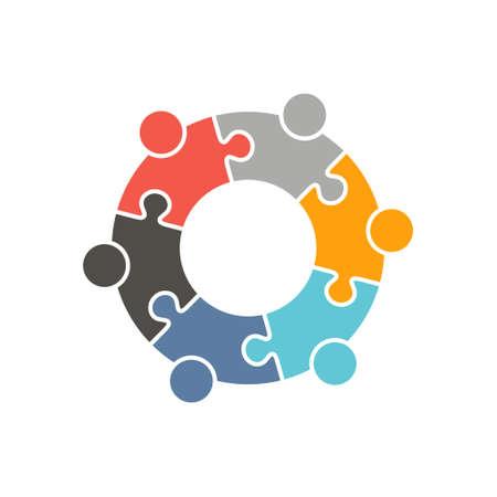 Vektor für People Group Logo. Vector graphic design illustration - Lizenzfreies Bild