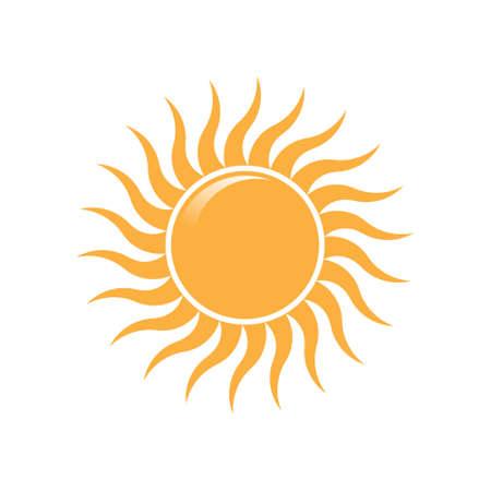 Illustration for Summer Sun wave rays logo. Vector logo design - Royalty Free Image