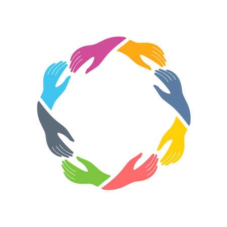 Illustration pour Social Network hands group icon. Vector graphic design - image libre de droit